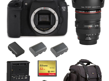 Rent: Canon 7D (w/ 24-105 Lens, Batteries, Reader)