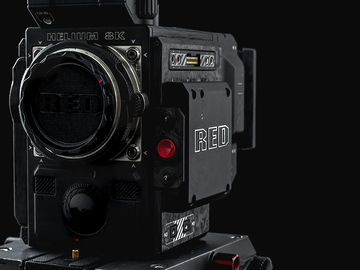 Rent: RED Helium Weapon 8K Forged Carbon Fiber - Lens Package