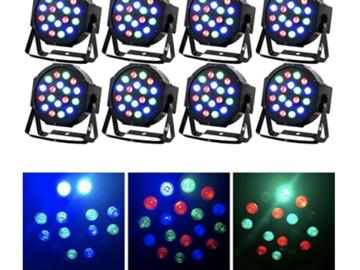 Rent: Missyee Stage lights 8 Piece Up-Lighting - Full RGB Color Mi
