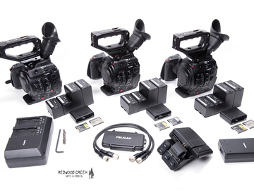 Rent: C300 Mark II Multi-Cam (3 cameras) w/sticks & shoulder rig