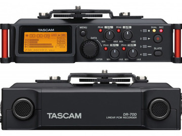 Tascam DR-70D, Boom Pole, NTG-2 Shotgun, Recharge Batteries