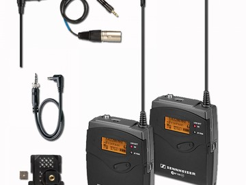 Rent: 2 Sets of G3 Sennheisser Wireless Lavalier Microphones