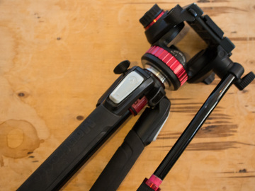 Rent: Manfrotto 550 Tripod and Fluid Head