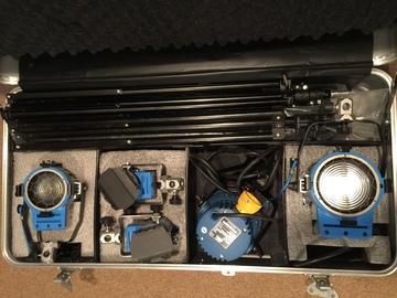Rent: NEW Arri 5 Light Kit (1k, 650, 300, 2 x150)