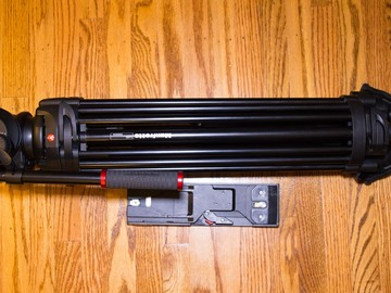 Rent: Manfrotto 504HD Head w/546B 2-Stage  Tripod with VCT Plate