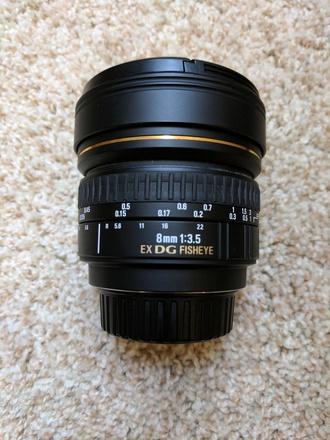 Sigma 8mm f/3.5 EX DG Fisheye for Nikon