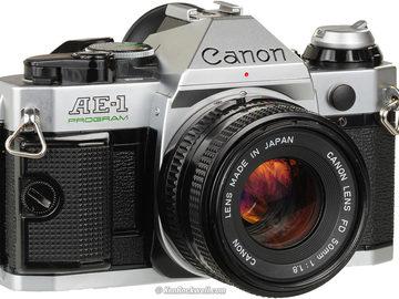 Canon AE-1 Program Film camera w 50mm 1.8