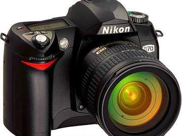 Nikon D70 with 50mm 1.8 lens