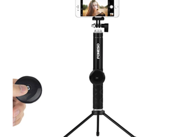 Rent: Extendable Monopod with Bluetooth Remote and Tripod Stand