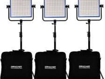 Rent: Dracast 1000 LED Plus Bi-color 3 light kit (2900-6500k)