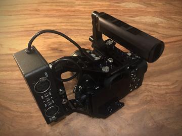Sony A7S cinema bundle with XLR, cage, EF adapter