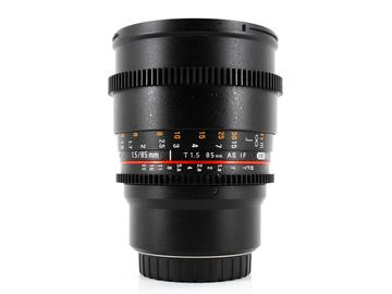 Rent: Rokinon 85mm T1.5 Cine DS, Micro 4/3 Fit