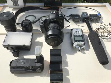 Rent: Canon 5D mark III KIT + 3 Lenses +Wireless Audio Kit
