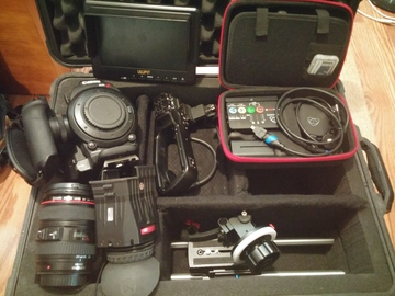 Canon C100 w/ Ninja Star Recorder + lens and more