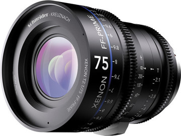 Rent: Schneider Xenon FF 75mm T2.1 Lens with Canon EF Mount (Feet)