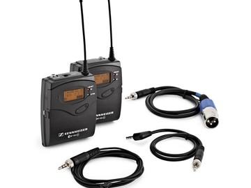 Rent: 2 Sennheiser Wireless Lavaliers
