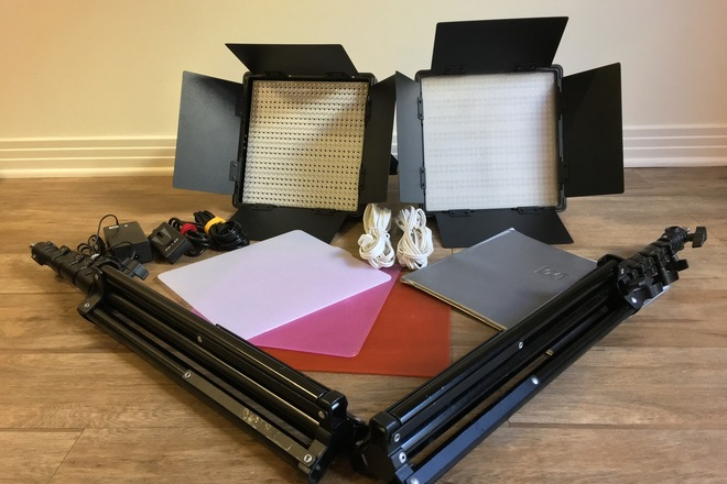 LED Panels (2x) with baby stands