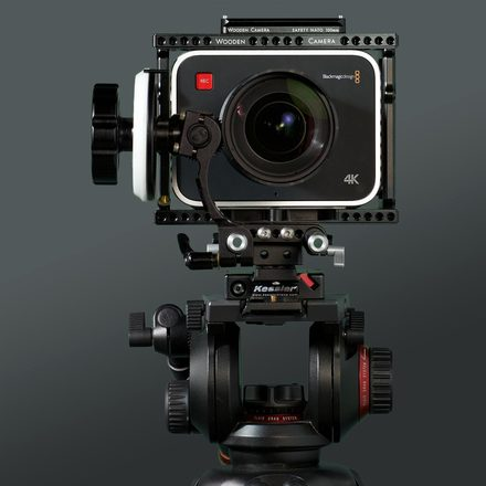 Blackmagic 4K Production Cinema Camera body w/ Wooden Camera