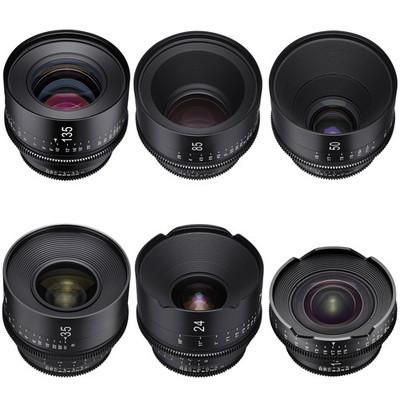 Set of 6 Rokinon Xeen Cine EF Lenses