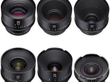 Rent: Set of 6 Rokinon Xeen Cine EF Lenses