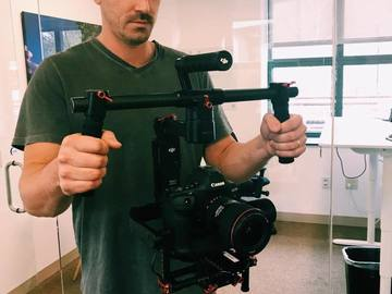 Rent: DJI Ronin M with extension rods for larger camera bodies