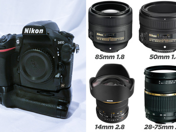Rent: Nikon D810 + 4 Lenses + Grip