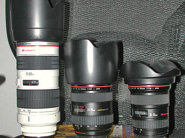 Rent: Canon L series II zooms lens package with 100mm Prime Macro