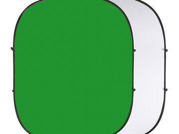 Rent: 6.6ft x 7.9ft Collapsible Green Screen w/ C-Stand