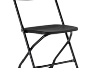 Rent: Black Folding Chair (110 Available)