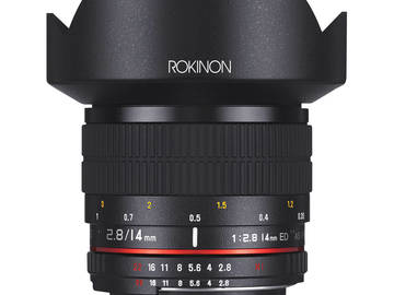 Rent: Rokinon 14mm 2.8 with AE chip