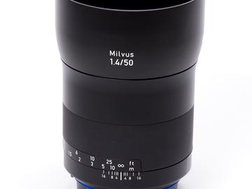 Rent: Zeiss Milvus 50mm f/1.4 ZE