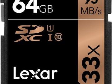 Rent: 64 GB Lexar 633x SD Cards
