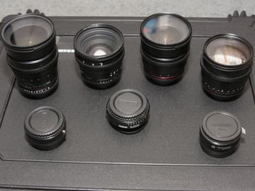 Rent: Rokinon Cine Lens Set and Metabones Speed Boaster
