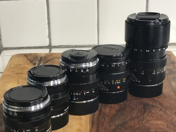 Rent: Wide to Telephoto Leica M Mount Lens Kit
