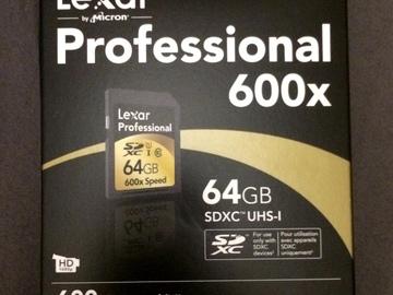 Rent: Lexar Professional 600x 64 GB SDXC UHS-I Class 10