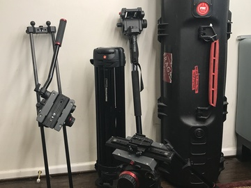 Rent: Manfrotto 509 100mm Ball Head+Tripod+Slider+Hi-hat+more