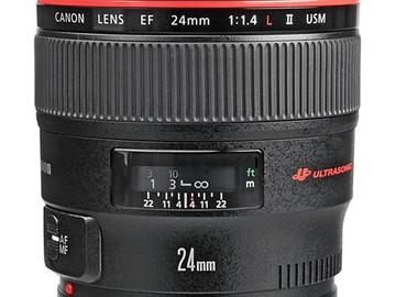 Rent: Canon EF 24mm f/1.4L II USM