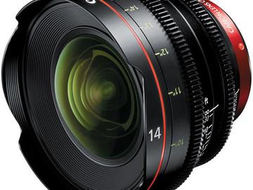 Rent: Canon CN-E 14mm T3.1 L F Cinema Prime Lens (EF Mount)