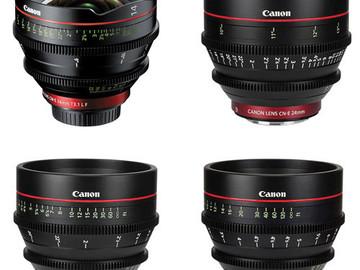 Rent: Canon CN-E Cinema Prime 4 Lens Set
