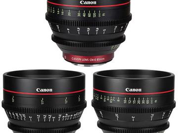 Canon CN-E Cinema Prime 3 Lens Set