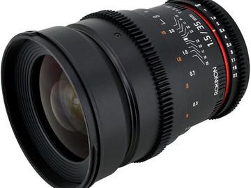 Rent: 35mm Rokinon Cine Lens / EF Mount