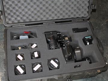 Sony FS7 full Rokinon DScine primeset Canon 70-200 metabones