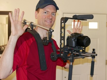 Rent: Indisystem Equidus Modular Hands Free Weighted Shoulder Rig