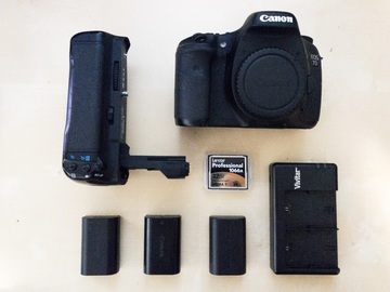 Rent: Canon EOS 7D Body with batteries, grip and CF card