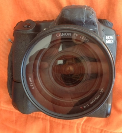 EOS Canon 60D battery grip and 24-105L
