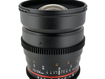 Rent: Rokinon 24mm T1.5 Cine EF Lens