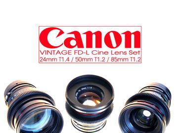 Rent: vintage canon fd-l aspherical SUPER SPEED lens set