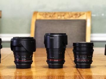 Rent: Rokinon CINE DS Set 24,35,50,85  + Tokina 11-16 [Canon EF]