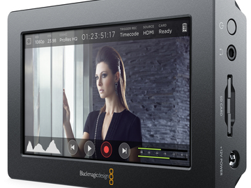 "Rent: Blackmagic Video Assist 4K 5"" Recording Monitor"