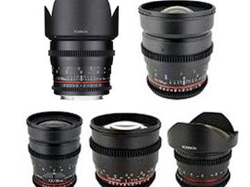 Rent: Rokinon 5 Prime Lens Set - Cinema EF
